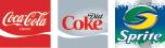 Coke, Diet Coke and Sprite
