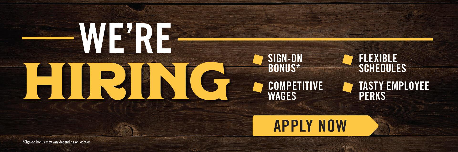 We're hiring. Apply Now.